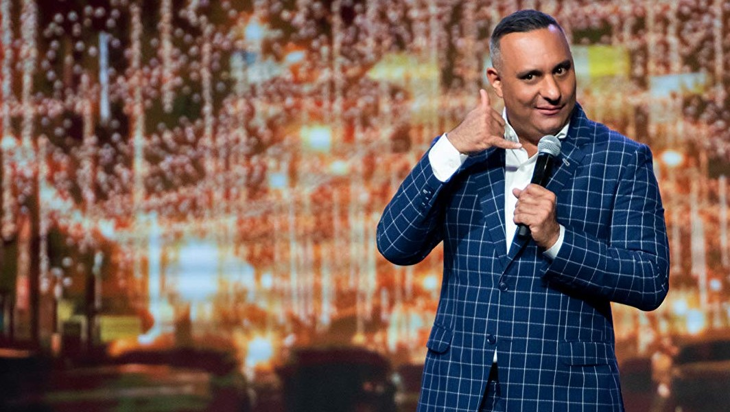 Filmed over two sold-out nights at The NSCI Stadium in Mumbai. Russell Peters Latest Standup Deported Filmed Live In Mumbai, India Premieres January 17, 2020.